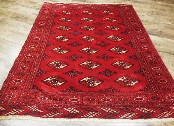 Exquisite Vintage Oriental Qashqai Turkeman Serapi Heriz Rug 4ft x 5.3ft