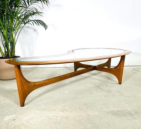 Mid-Century Modern Kidney Shape Coffee Table by Lane Furniture