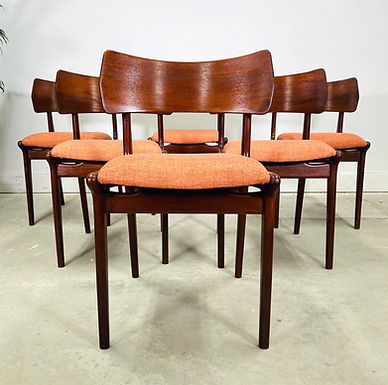 Set 6 Danish Mid-Century Modern Teak Dining Chairs