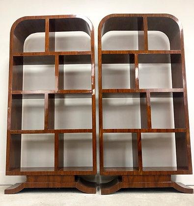 Pair of Mid-Century Modern/ Art Deco Style Book Shelves