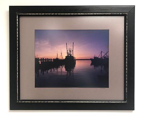 Ships at Twilight Framed Photogragh