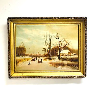 Oil on Canvas Painting of Country Side
