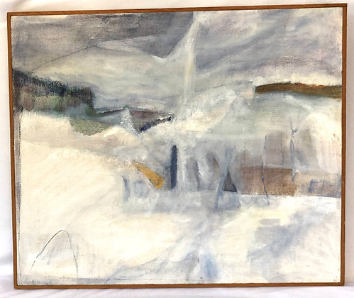 Abstract Oil on Canvas - Signed
