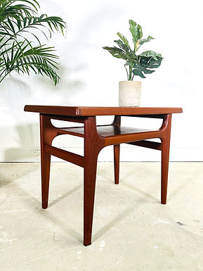 Mid-Century Danish Modern Teak Side Table by NIELS BACH 1960s