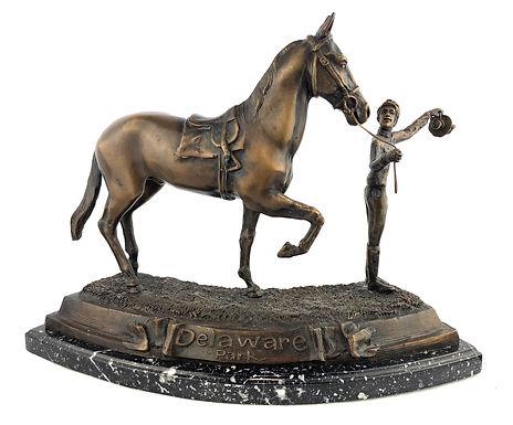 "Delaware Park Bronze Statue ""Stable Hand"""