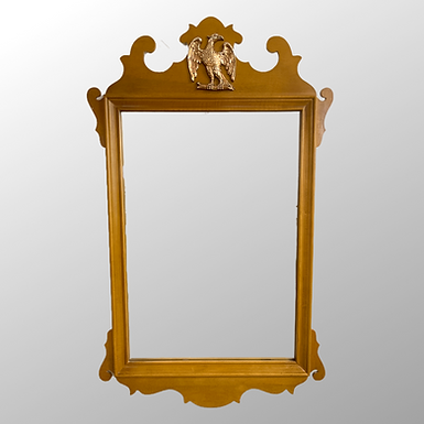 Vintage Maple Mirror with Eagle Decoration