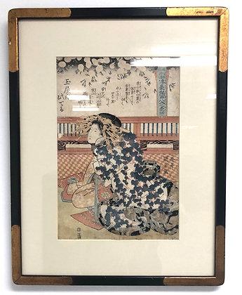 19th Century Japanese Woodblock Print Ukiyoe Art