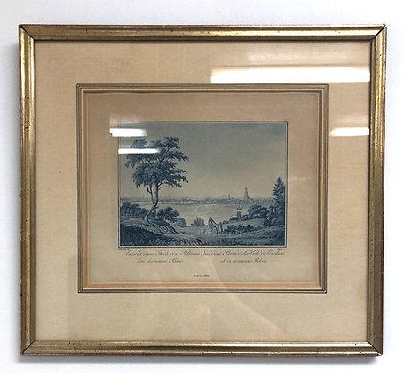 Original Copper Etching Print of Berlin 1830's