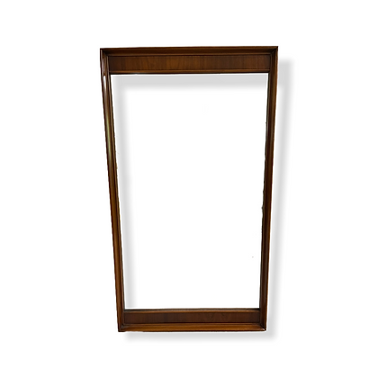 "Large Mid-Century Modern Walnut Mirror 60"" x 33"""