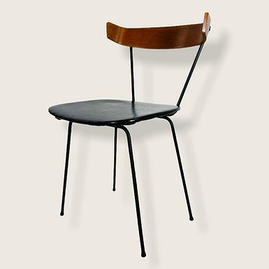 Mid-Century Modern Paul McCobb Style 1535 Iron & Walnut Desk or Dining Chair