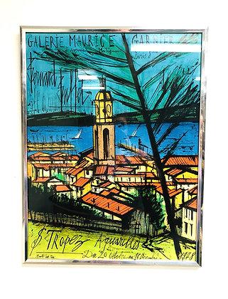 Bernard Buffet - St Tropez Aquarelles 1978 Lithograph Poster