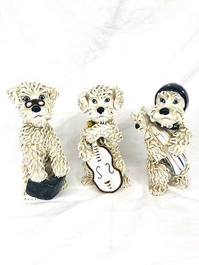 Set of 3 Ceramic Spaghetti Poodles