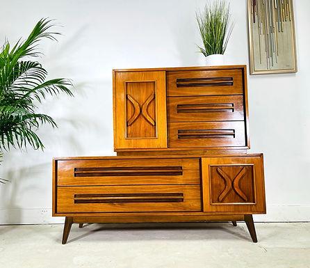 Mid-Century Modern Highboy Dresser by Young Furniture MFG.