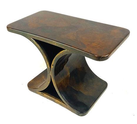 Mid Century Italian Modern Goatskin End Table by Aldo Tura