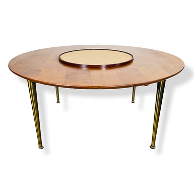 Mid-Century Modern Round Coffee Table by Lazy Suzan