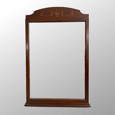 Antique Empire Mahogany Mirror with Inlay decoration