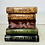 Thumbnail: Vintage Metal in Style of Maitland Smith Stacked Books End Table Hinged Trunk