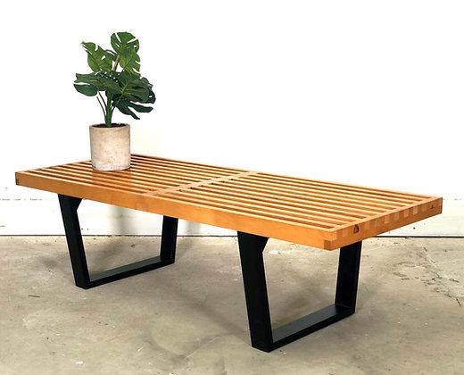 Vintage George Nelson Platform Slat Bench/Coffee Table For Herman Miller