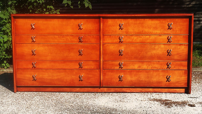 Mid Century Paul Frankl For Johnson Furniture John Stuart 10 Drawer Dresser