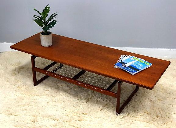 Mid-Century Danish Modern Teak Coffee Table By Arne Hovmand-Olsen For Mogens