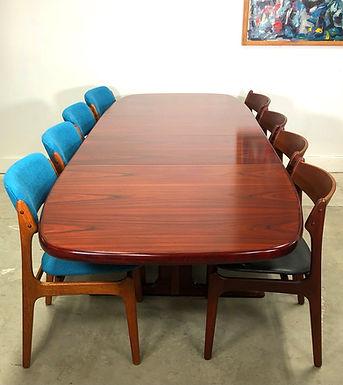 Mid-Century Danish Modern Rosewood Dining Table