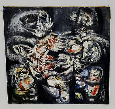 BESSER, Leonard Oil On Canvas Modernist Figures.
