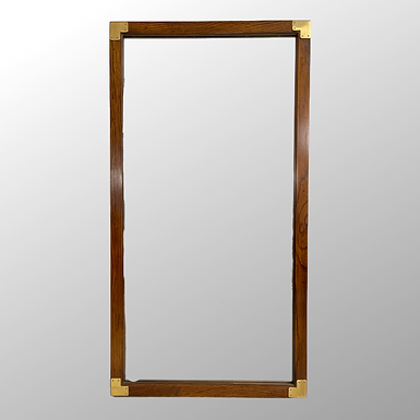 Vintage Oak Mirror with Brass Accent by Henredon