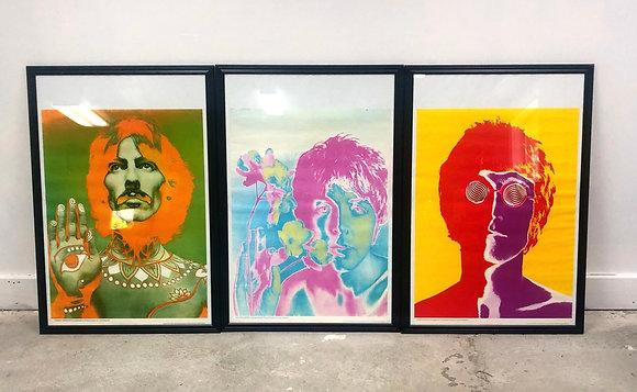 Set 3 Original 1967 Richard Avedon Posters Of Beatles