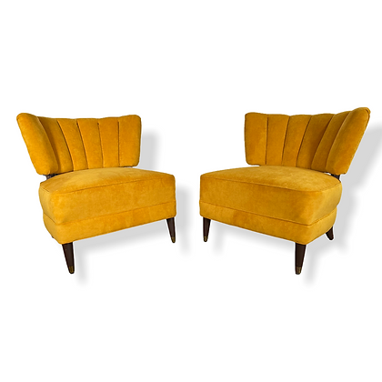 Pair of Retro Cocktail Lounge Chairs