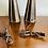 Thumbnail: Beautiful Pair Mid-Century Modern Brass & Wood Table Lamps