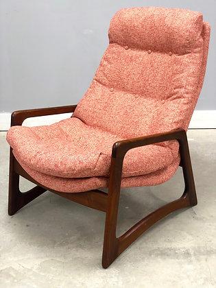 Mid-Century Danish Modern R. Huber & Adrian Pearsall Style Lounge Chair