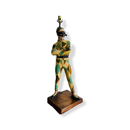 Rare Collectible Mid-Century Modern Marbro Harlequin Jester Table Lamp