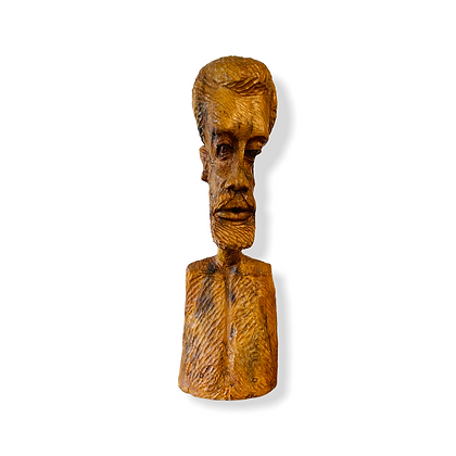 Extra Large Hand Carved Wooden Bust Of Men