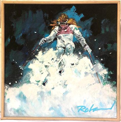 Oil on Canvas - Skier