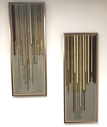 Pair of Wall Hanging Panels Signed by Lynch