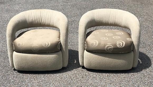 Mid Century Modern Design Swiveling Armchairs