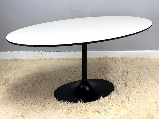 Mid-Century Modern Surfboard Tulip Table In Style Of Eero Saarinen
