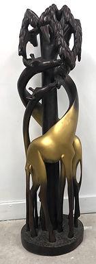 Giraffe Wooden Sculpture