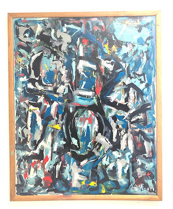 R Monti Abstract Oil on Canvas