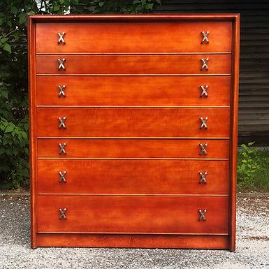 Original Paul Frankl Design For John Stuart Seven Drawer Dresser