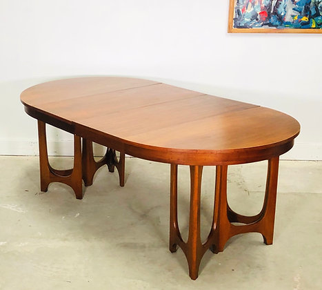 Rare Mid-Century Modern Young Manufacturing Walnut Dining Table