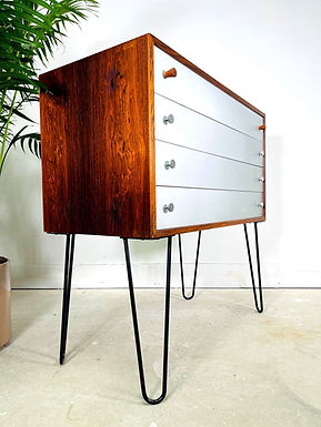 1960s Danish Modern Rosewood Chest by Poul Norreklit for Georg Petersens
