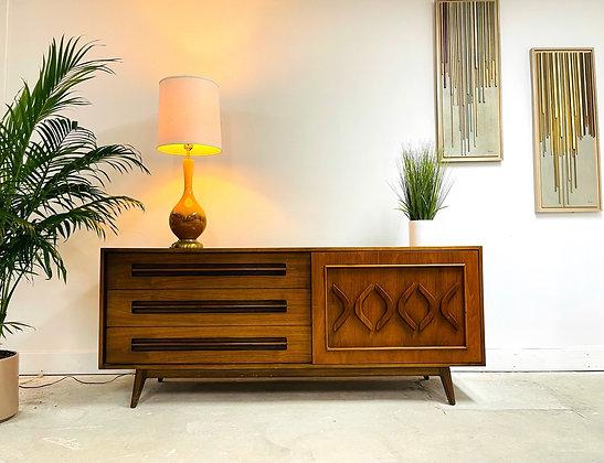 Mid-Century Modern Walnut Dresser / Credenza by Young Furniture