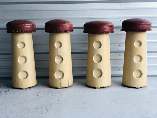 Vintage Mushroom Bar Stools