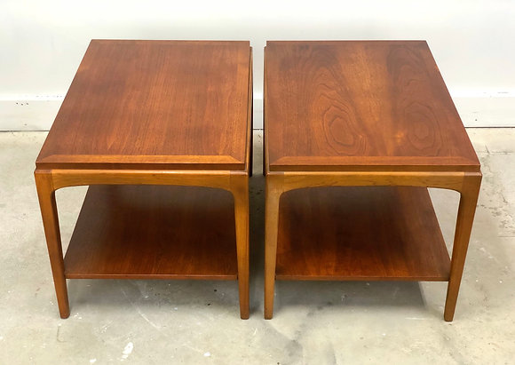 Pair of Mid-Century Modern Walnut Side Tables By Lane