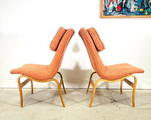 "Pair Of Swedish Modern ""Eva"" Chairs Designed by Bruno Mathsson"