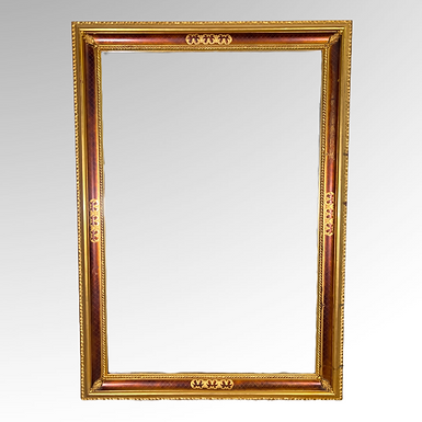Vintage Gold Decorated Mirorr by Carolina Mirror Co.