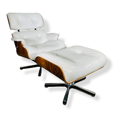 Mid-Century Modern Rosewood Eames Style Chair & Ottoman