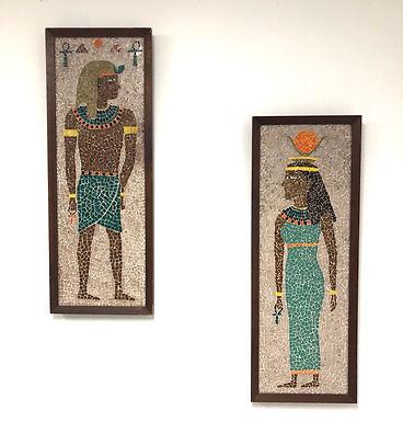 Pair of Tile Mosaic Panels