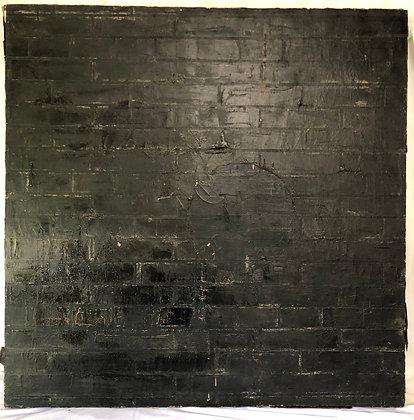 David Kelly Carnahan Mixed Media Black Brick Wall Art